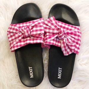 Shoes - Gingham slides/1 size left
